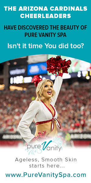 We are now the official Spa for the AZ Cardinals Cheerleaders!!